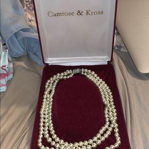Camrose & Kross Jackie Kennedy pearl necklace!